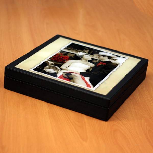 Crystal Glass Photo Album Box